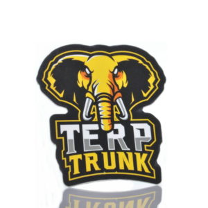 Terp Trunk Mascot sticker Yellow