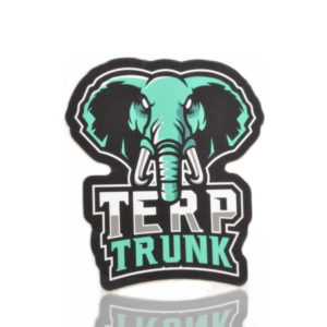 Terp Trunk Mascot sticker Blue